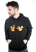 nézet - Mókusok férfi pulóver