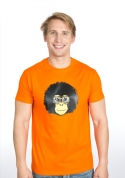 náhled - Retró majom férfi póló narancs