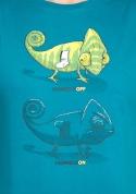náhled - ChameleON ChameleOFF férfi póló kék
