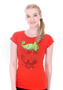 náhled - ChameleON ChameleOFF női póló piros