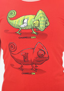 nézet - ChameleON ChameleOFF női póló piros
