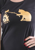 náhled - Macska-egér harc női póló
