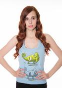 náhled - ChameleON ChameleOFF női ujjatlan póló kék