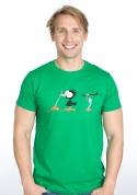náhled - Vigyázz, melyik végét fogod férfi póló zöld