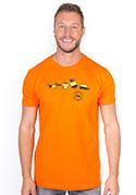 nézet - Állatokon tesztelve férfi póló narancs