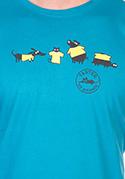 náhled - Állatokon tesztelve férfi póló kék