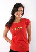 náhled - Állatokon tesztelve női póló piros