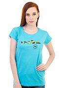 náhled - Állatokon tesztelve női póló kék