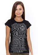 nézet - Matematikus női póló fekete