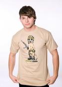 náhled - Suricattacker férfi póló barna
