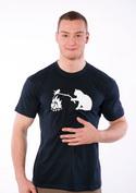 náhled - Macska-egér harc férfi póló