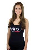 náhled - Fekete bárány női ujjatlan póló
