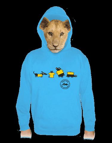 Állatokon tesztelve gyerek pulóver