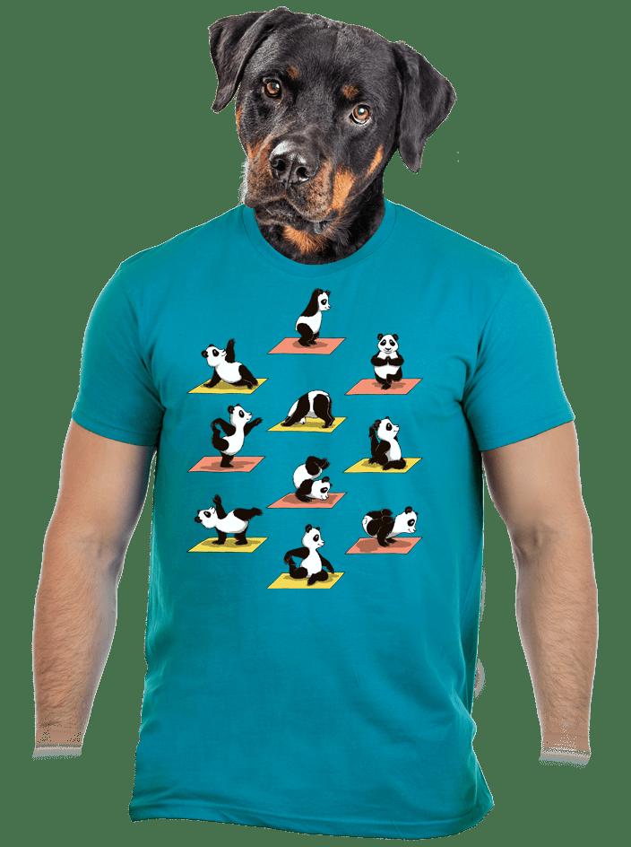 Panda jóga férfi póló