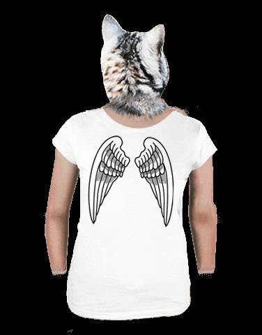 Szárnyak női póló fehér
