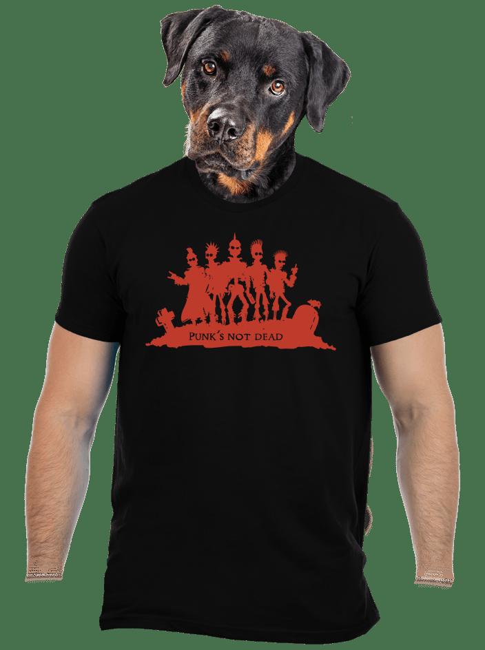 Punk's not dead férfi póló fekete