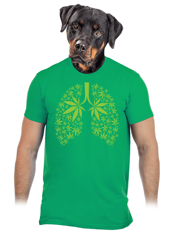 Gandzsa tüdő férfi póló