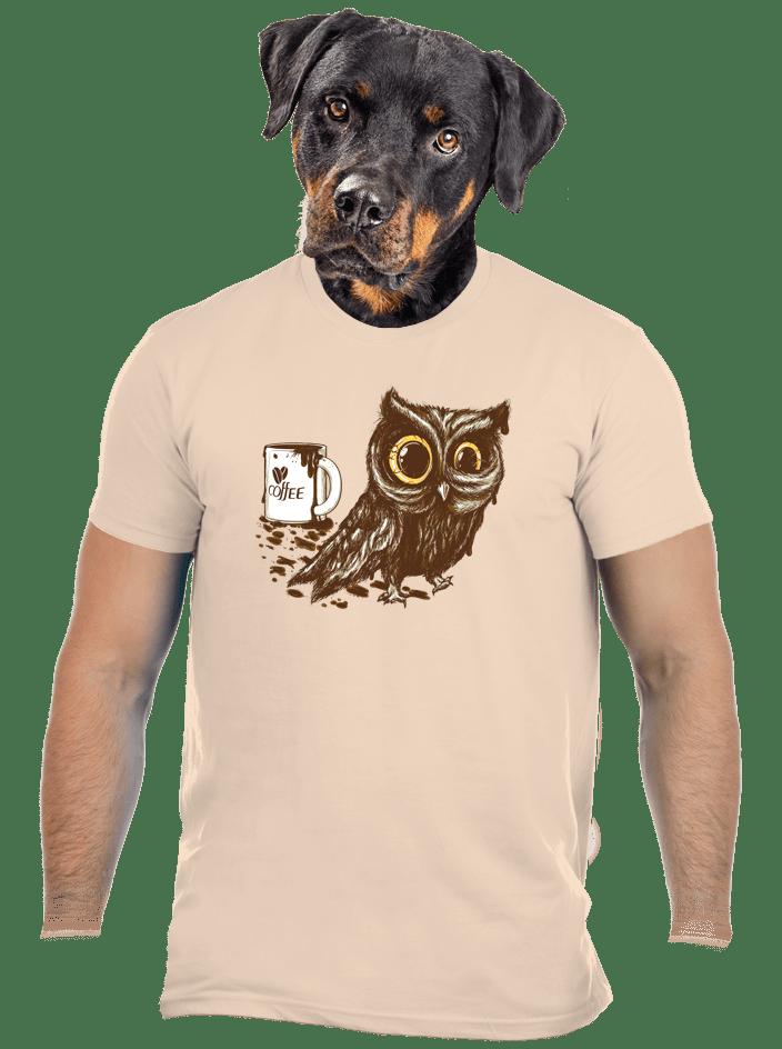 Koffeinfüggő bagoly férfi póló