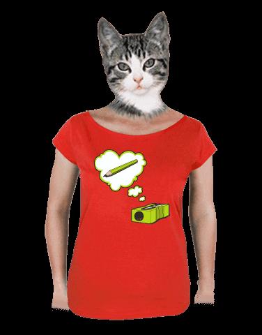 Hegyező női póló