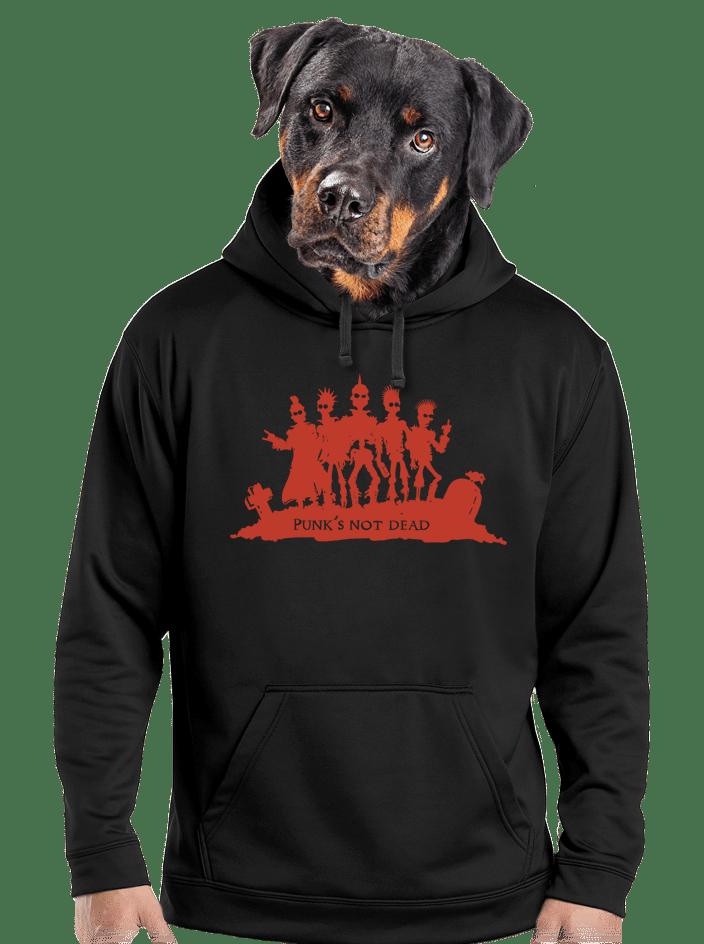 Punk's not dead férfi pulóver
