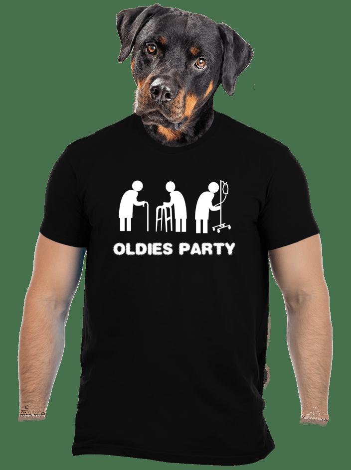 Oldies party férfi póló fekete