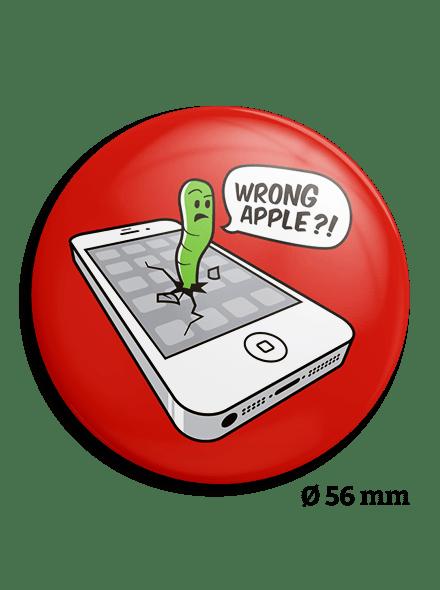 Wrong apple kitűző