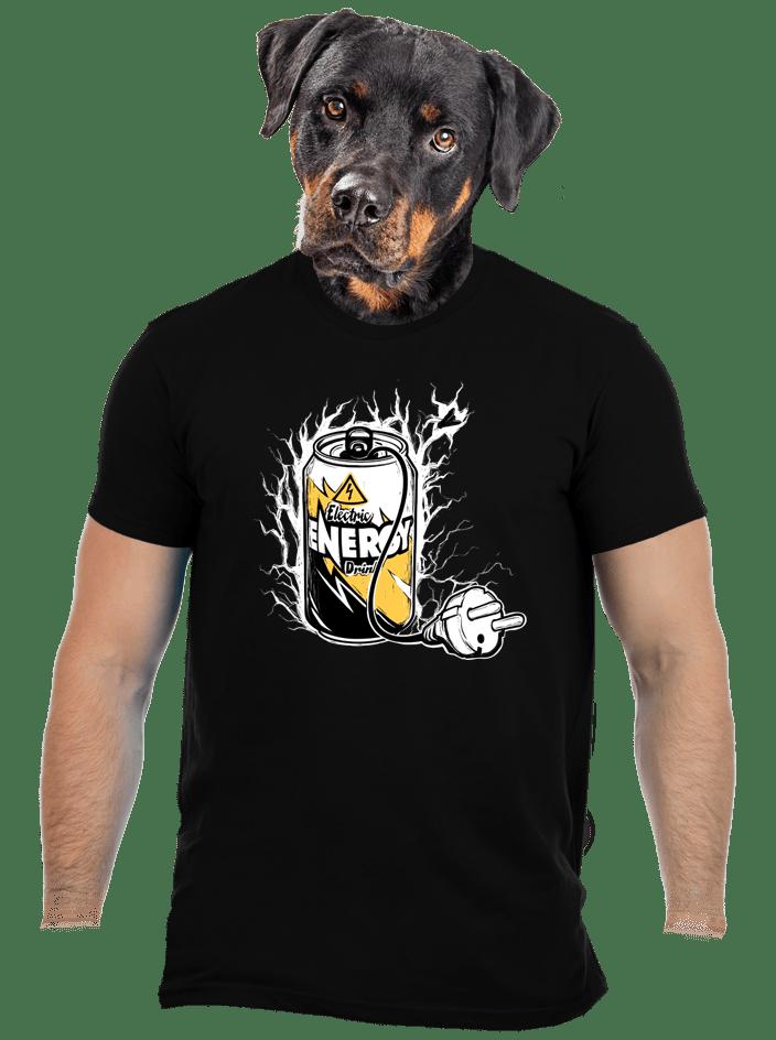 Energy drink férfi póló fekete