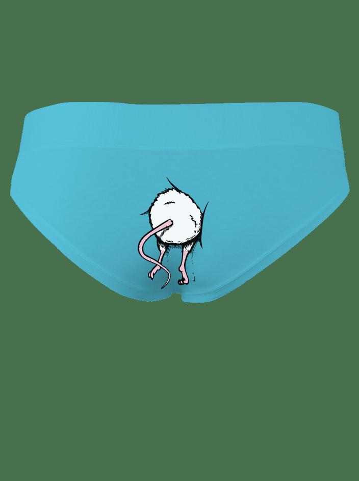 Egér a hátsóban - kék bugyi