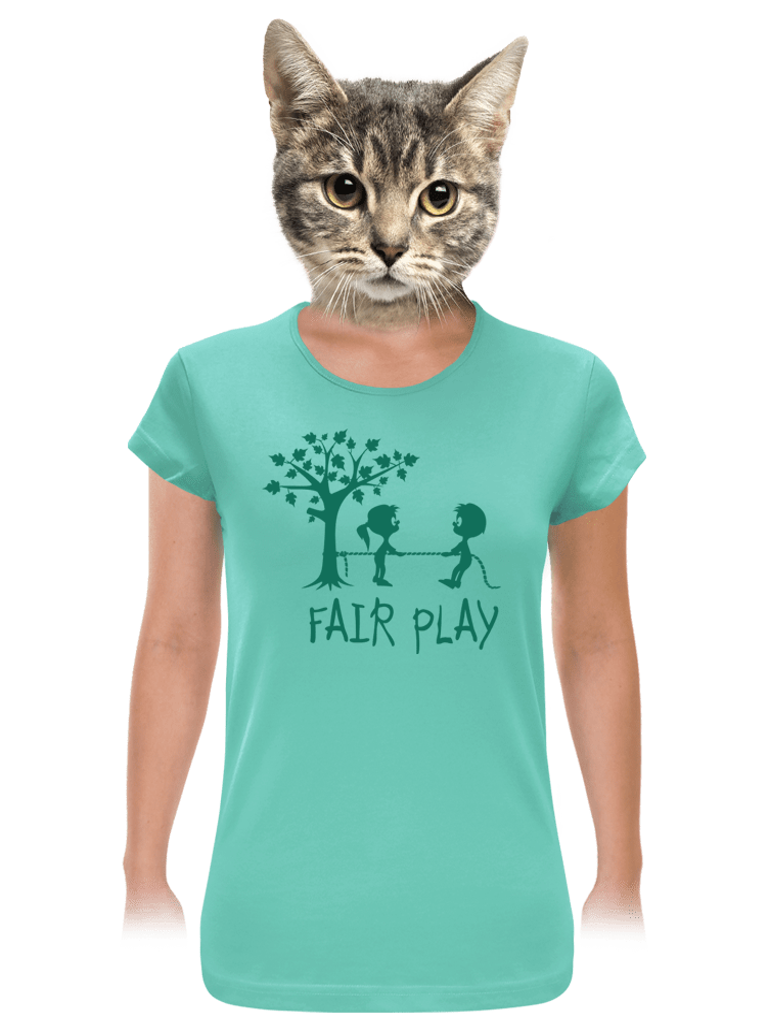 Fair play női póló zöld