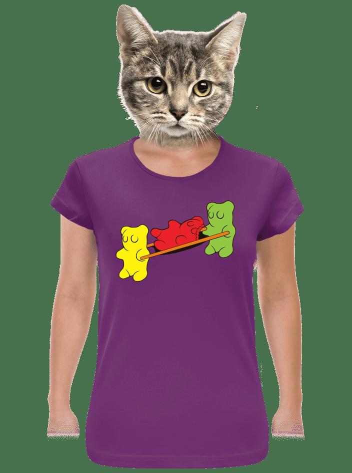 Gumimacik női póló lila
