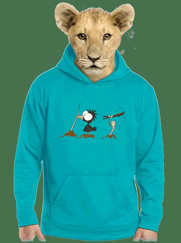 Vigyázz, melyik végét fogod gyerek pulóver kék