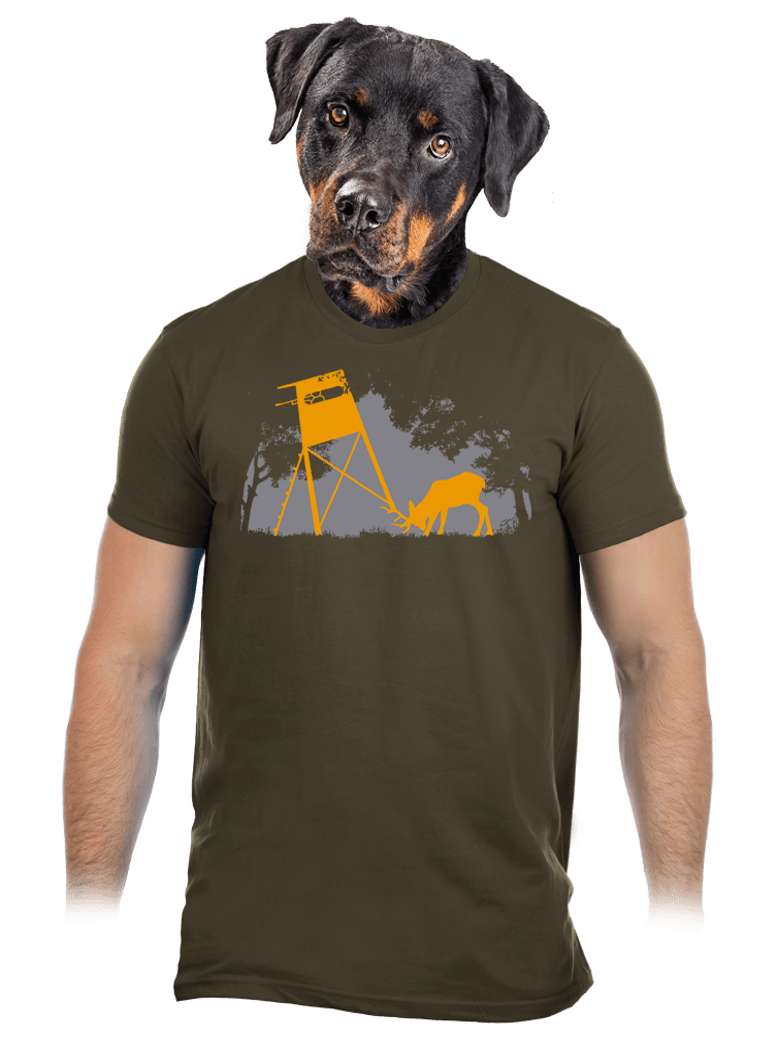 Erdei harmónia férfi póló khaki