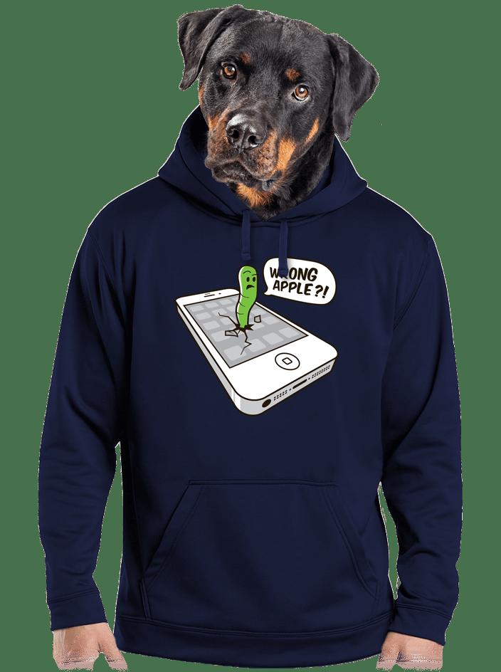 Wrong apple férfi pulóver