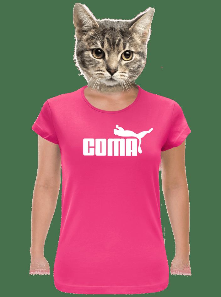 Coma női póló fukszia