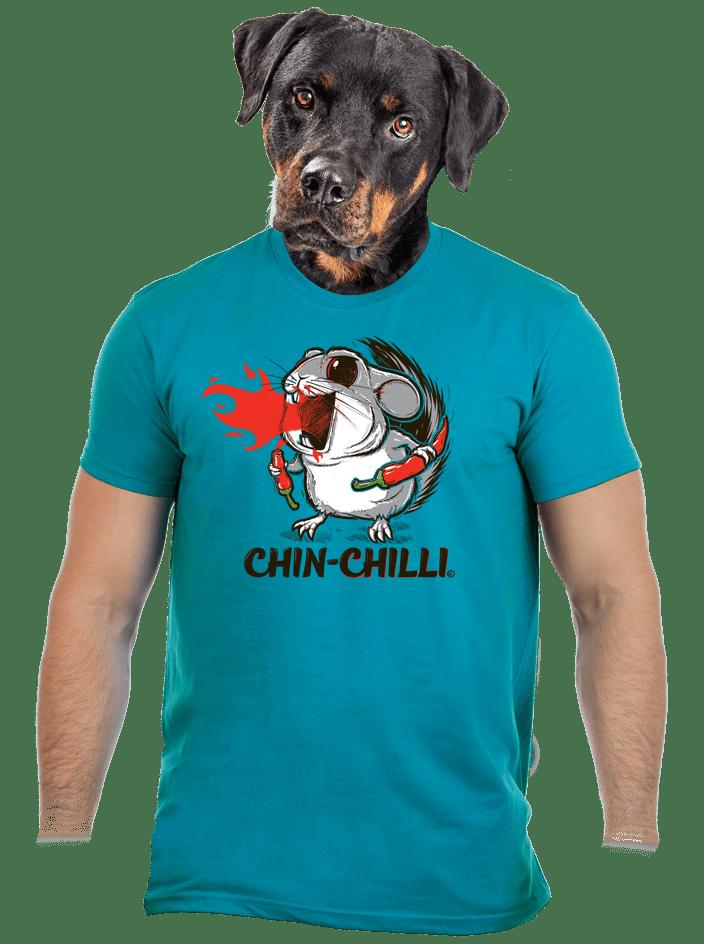 Chinchilli férfi póló kék