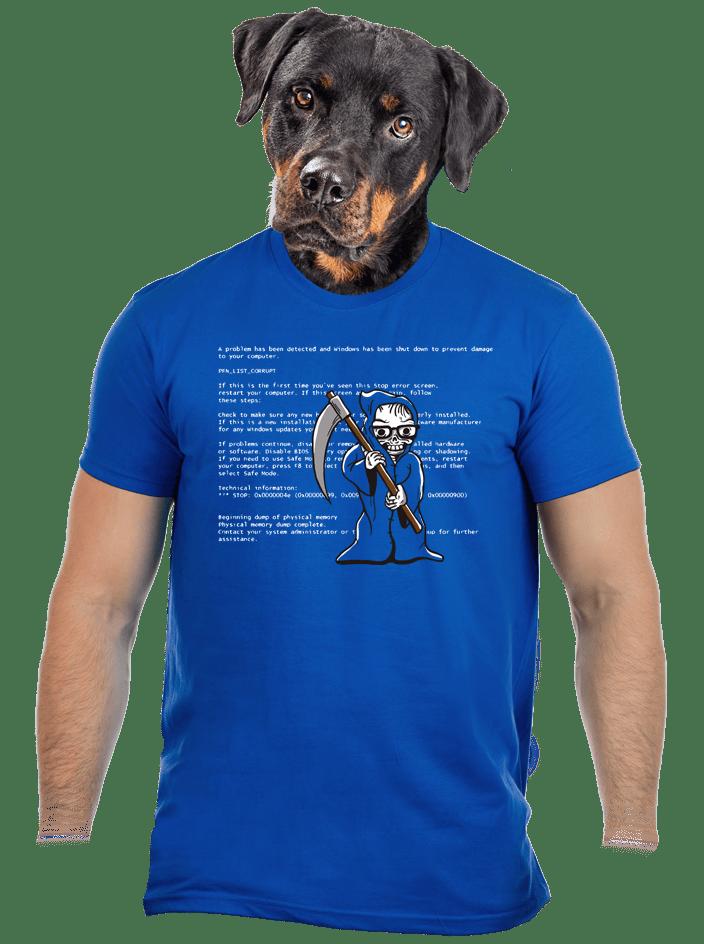 Kék halál férfi póló