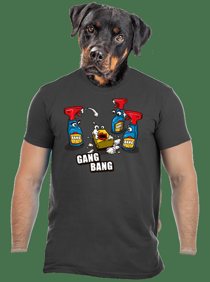 Gang bang férfi póló szürke