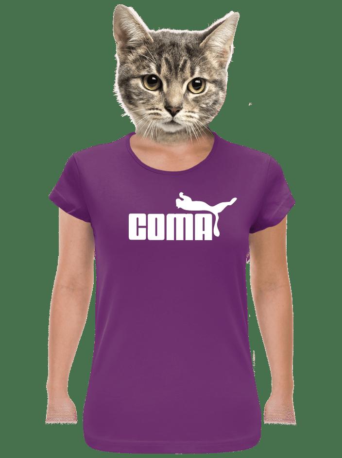 Coma női póló lila