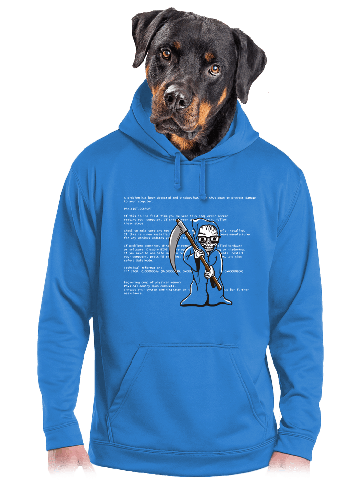 Kék halál férfi pulóver