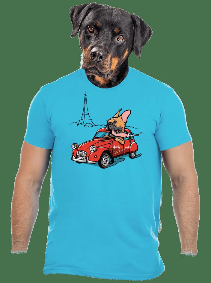 Francia buldog férfi póló
