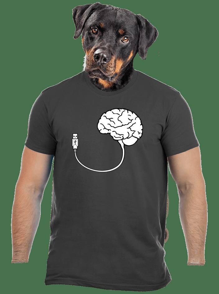 USB agy férfi póló szürke