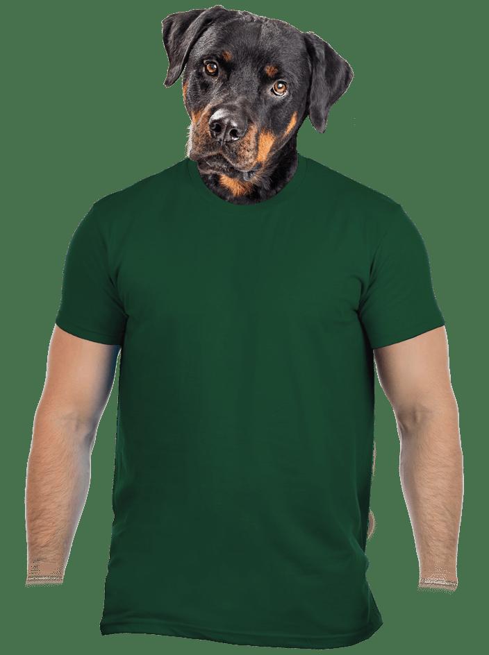 Férfi póló sötétzöld
