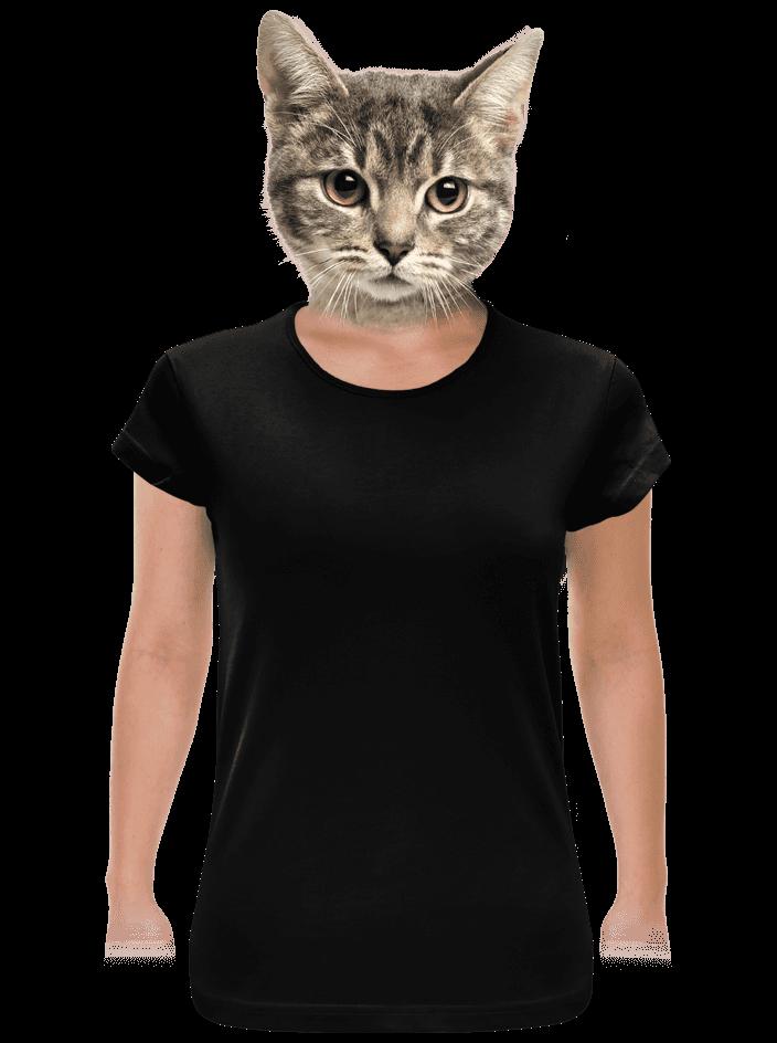 Hagyományos szabású női póló fekete