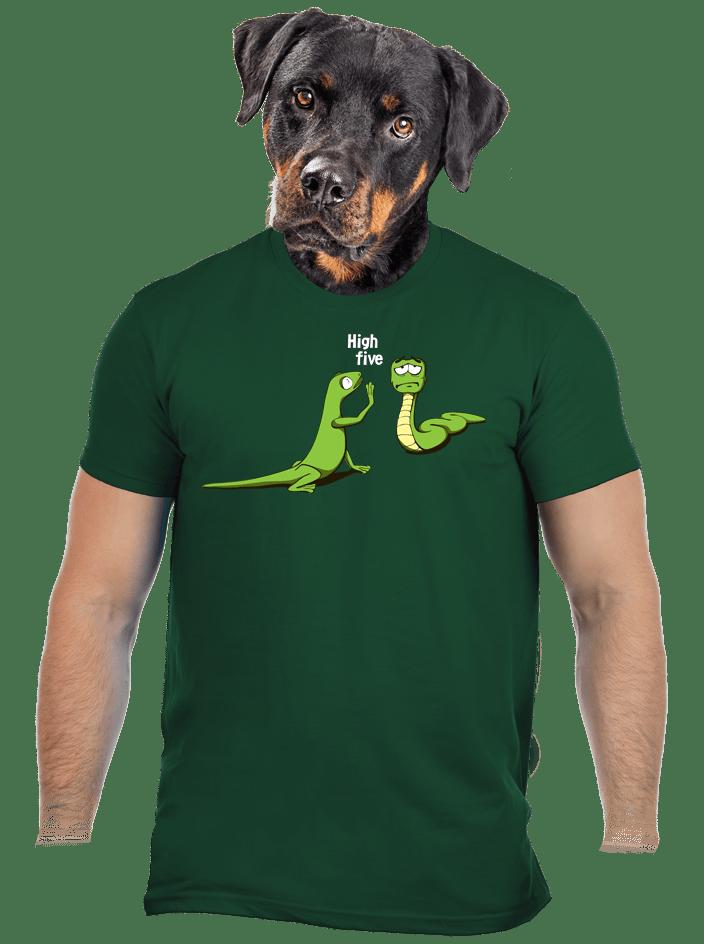 High Five férfi póló zöld