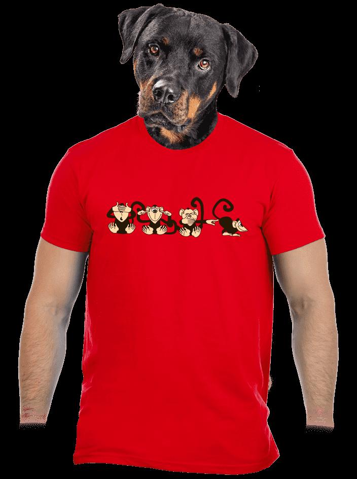 Majmok férfi póló piros