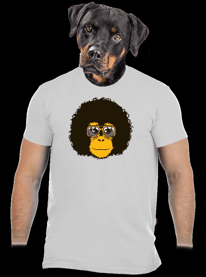 Retró majom férfi póló szürke