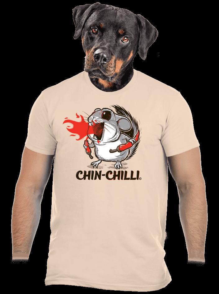 Chinchilli férfi póló barna