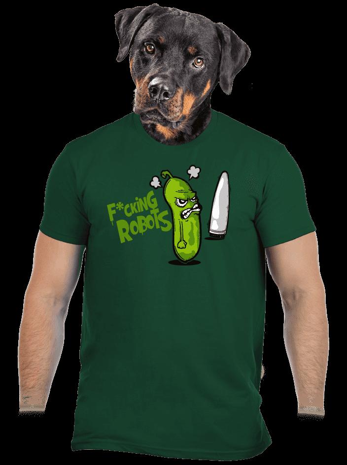 Fucking Robots férfi póló zöld