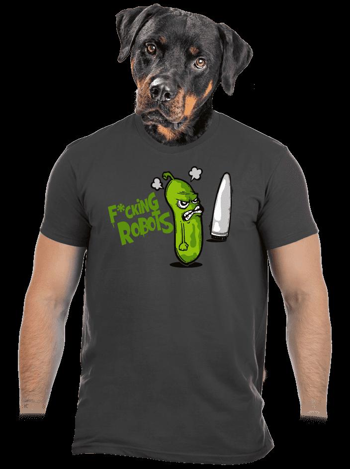 Fucking Robots férfi póló szürke