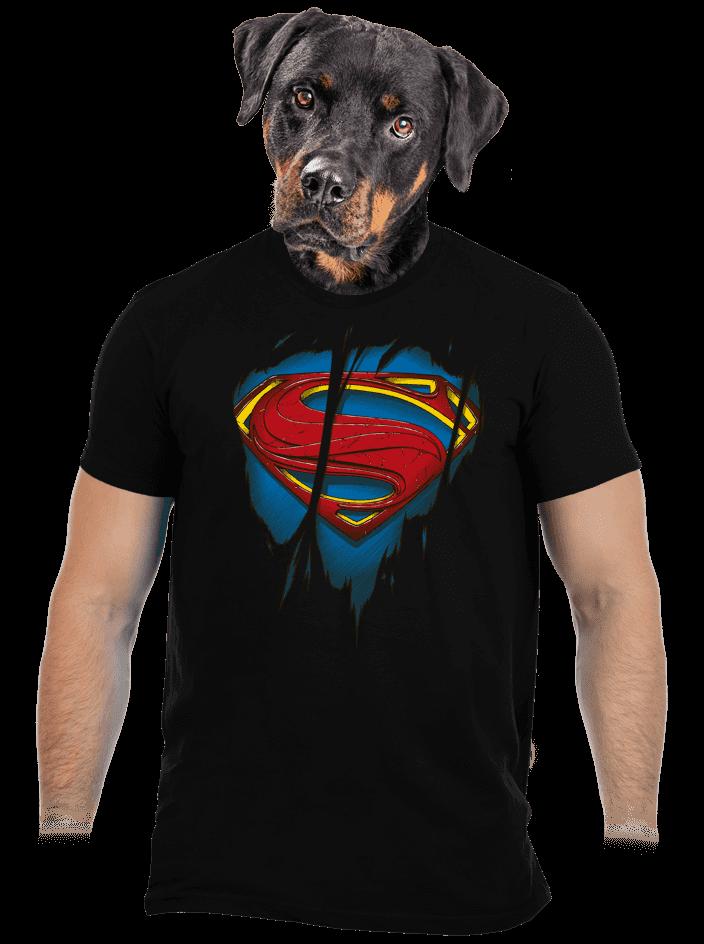 Superman Inside férfi póló fekete